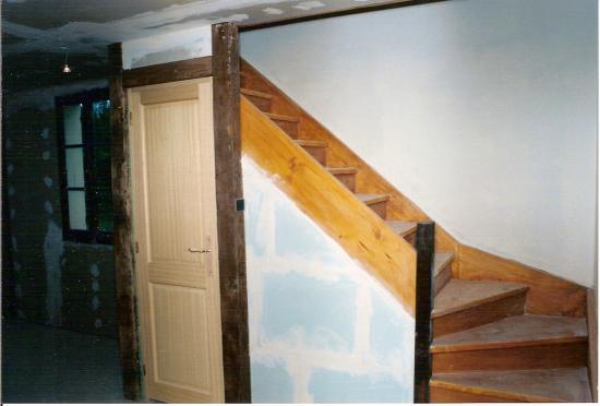 Cloisonnement pour cr ation wc sous l 39 escalier - Decoration wc sous escalier ...